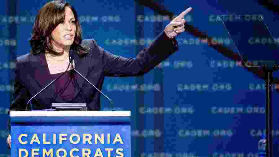 A senadora Kamala Harris, companheira de chapa do democrata Joe Biden - Getty Images