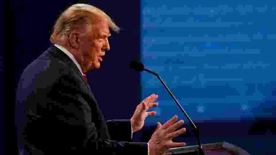 Donald Trump participa de debate em Nashville, no Tennessee - Pool / Getty Images / AFP