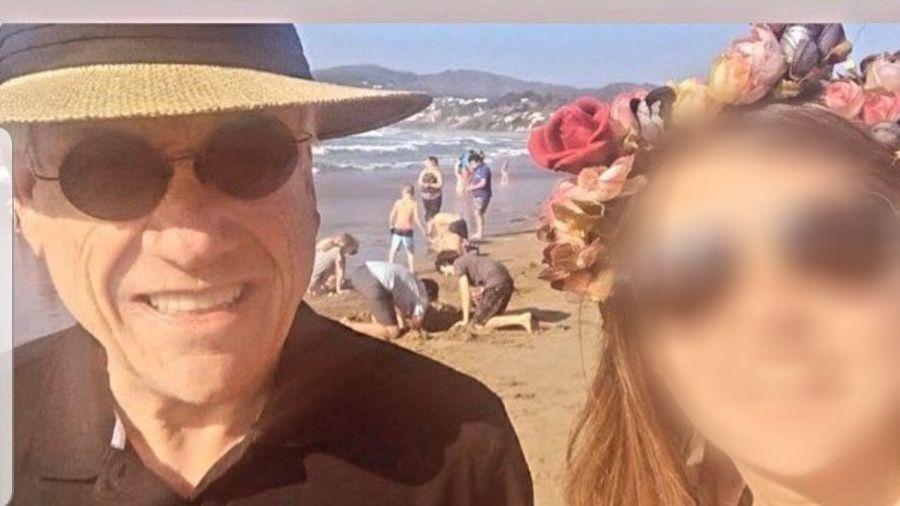 O presidente chileno Sebastián Piñera em foto na praia sem máscara - Reprodução/Instagram