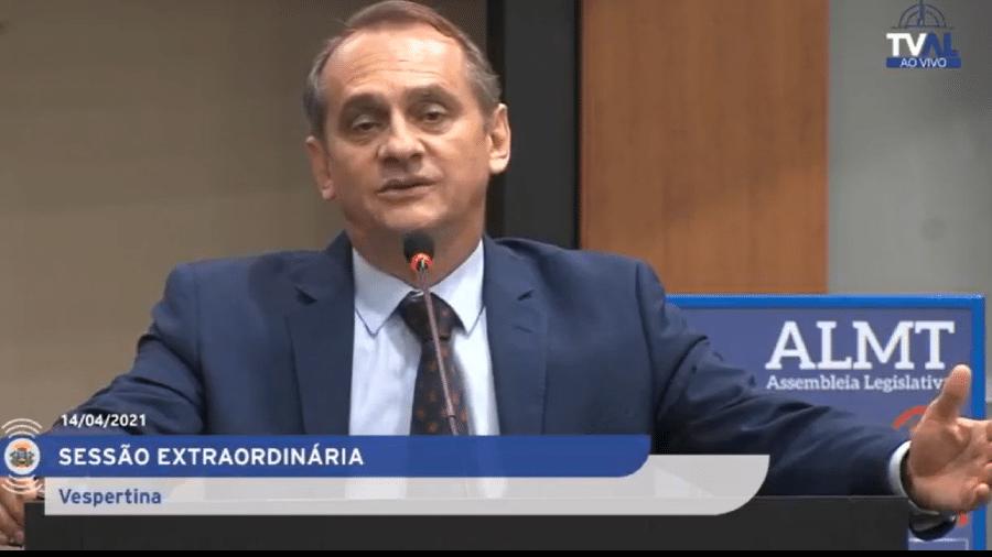 """O deputado estadual Wilson Santos (PSDB-MT) comparou a pandemia de covid-19 à epidemia de varíola e à gripe espanhola: """"vida continuou"""" - Reprodução ALMT"""