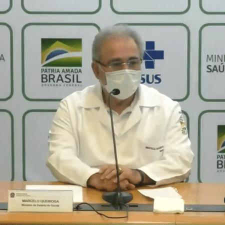 21.abr.21 - Ministro Marcelo Queiroga em entrevista coletiva - Reprodução/YouTube