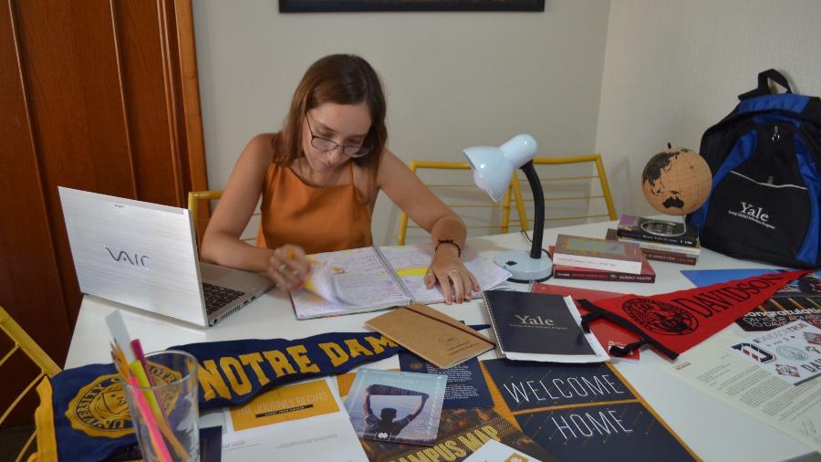 Maria Júlia Castro, de 17 anos, quer estudar nos EUA - Arquivo Pessoal