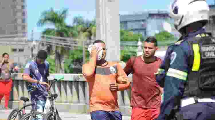 Jonas afirmou que ergueu os braços e avisou que não fazia parte do protesto antes de ser alvejado - JUNIOR BOO/ESTADÃO CONTEÚDO - JUNIOR BOO/ESTADÃO CONTEÚDO