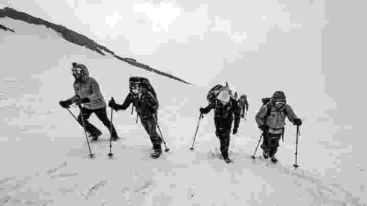Jared Isaacman convidou os três participantes da missão para escalar uma montanha - Inspiration4/John Kraus - Inspiration4/John Kraus