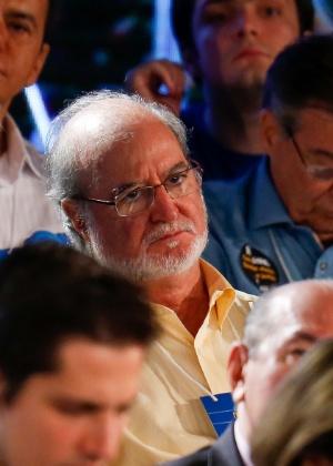 5.jul.2015 - O ex-deputado Eduardo Azeredo durante a convenção nacional do PSDB