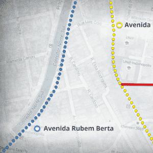 mapas ciclovia - Mirandópolis - Arte UOL