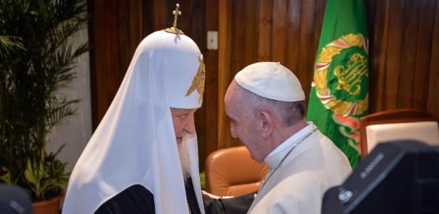 O patriarca da Igreja Ortodoxa Russa encontra-se com o papa Francisco em Cuba