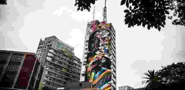 23.fev.2016 - Grafite do artista Eduardo Kobra na Avenida Paulista, em São Paulo - Lucas Lima/UOL - Lucas Lima/UOL