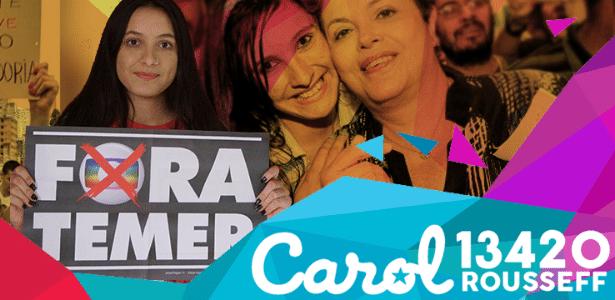 Carolina Duarte decidiu adotar o sobrenome mesmo sem ter nenhum parentesco com Dilma