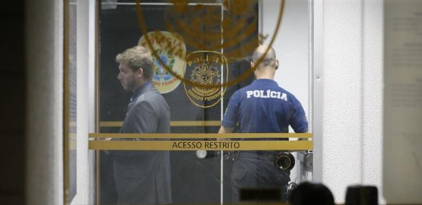 Movimentação na sede da policia legislativa no Senado Federal nesta sexta-feira (21)