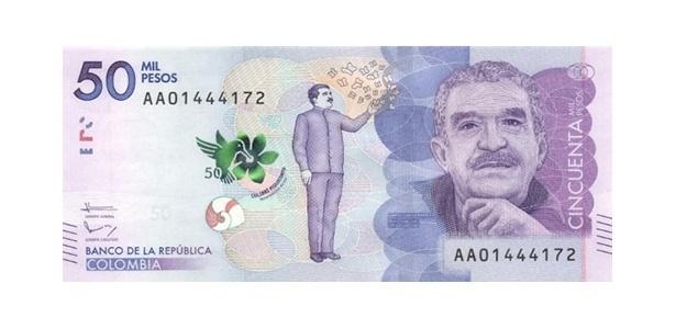 Oscar da Moeda: nota de 50 mil pesos colombianos