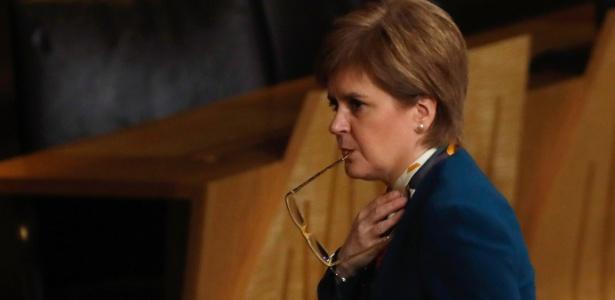 A primeira-ministra escocesa Nicola Sturgeon