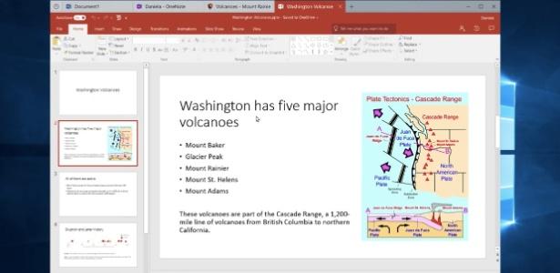 """Microsoft testa o """"Sets"""", recurso do Windows que passará a organizar as diversas aplicações abertas em uma janela como se fossem abas de navegador"""