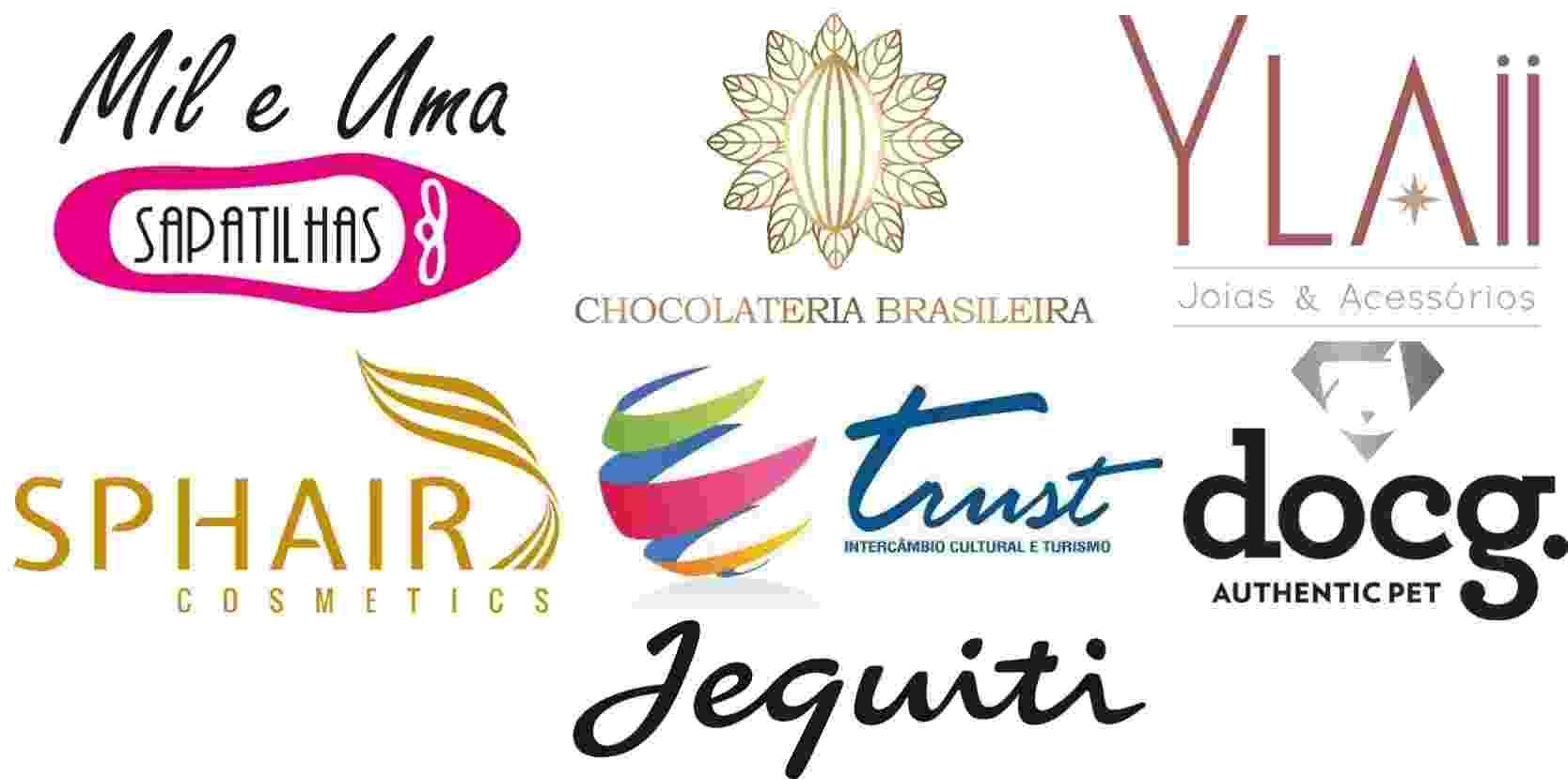 Negócios com investimentos de R$ 139 a R$ 3.500 logos - Montagem