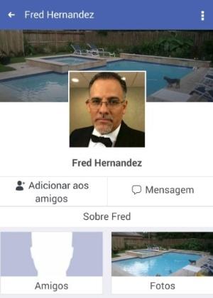"""Perfil criado no Facebook para """"Fred Hernandez"""" interagir com suas pretendentes  - Reprodução/Polícia Civil"""
