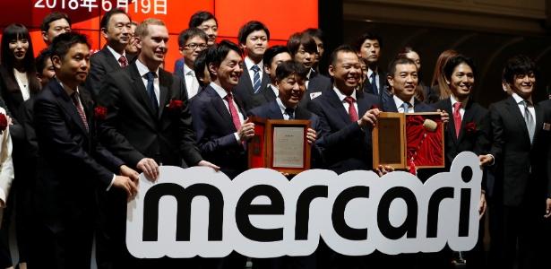 A empresa de tecnologia Mercari faz sua estreia na Bolsa de Tóquio
