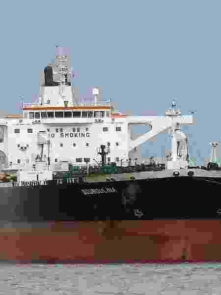 O navio Bouboulina, investigado pelo derramamento de óleo nas praias do Nordeste - C. Plague/Fleetmoon