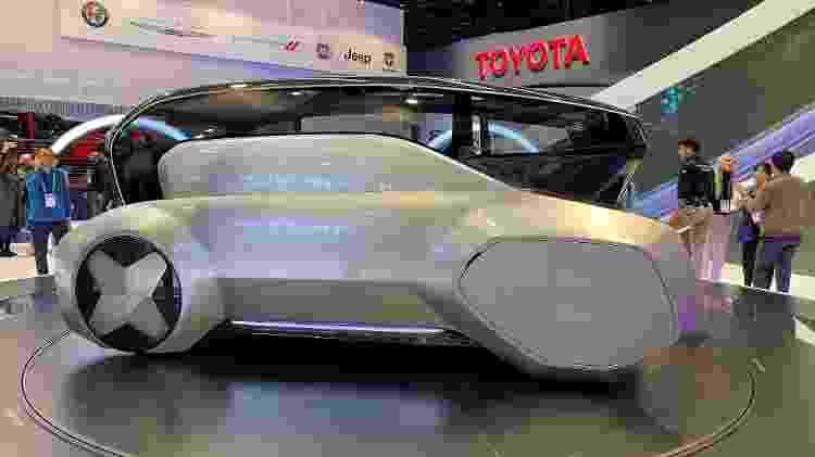 Carro futurístico da Hyundai na CES 2020 - Gabriel Francisco Ribeiro/UOL - Gabriel Francisco Ribeiro/UOL