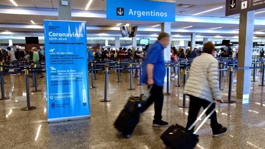 Mulher retornou da Itália com febre e foi internada; autoridades realizam ações de prevenção - Governo da Argentina/Divulgação