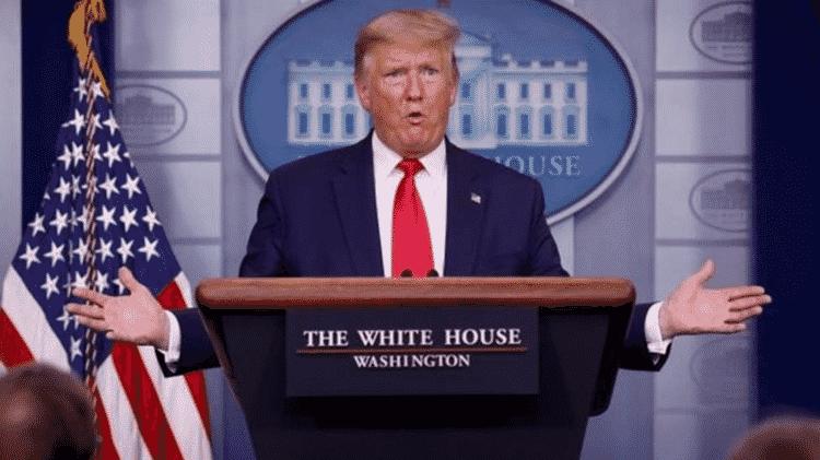 O presidente Trump disse que ítens médicos desviados do exterior são urgentemente necessários nos EUA - Getty Images - Getty Images
