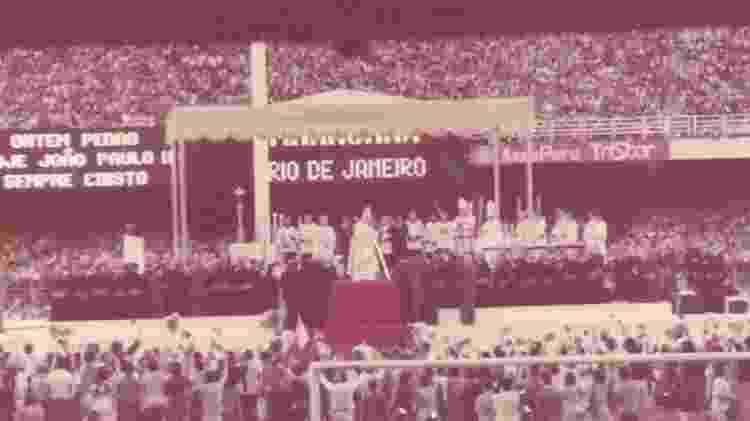 No Rio, o papa ouviu coral cantando 'A bênção, João de Deus', tida como a 'música oficial da visita' - ARQUIVO PESSOAL DO PADRE SILAS VIANNA - ARQUIVO PESSOAL DO PADRE SILAS VIANNA