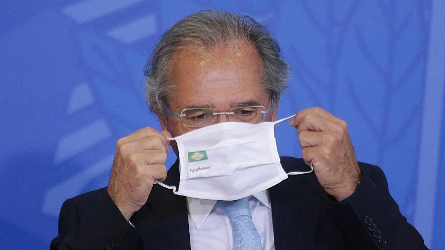 """O ministro da Economia, Paulo Guedes, durante a cerimônia """"Modernização de Normas Regulamentadoras do Trabalho"""" - Dida Sampaio/Estadão Conteúdo"""