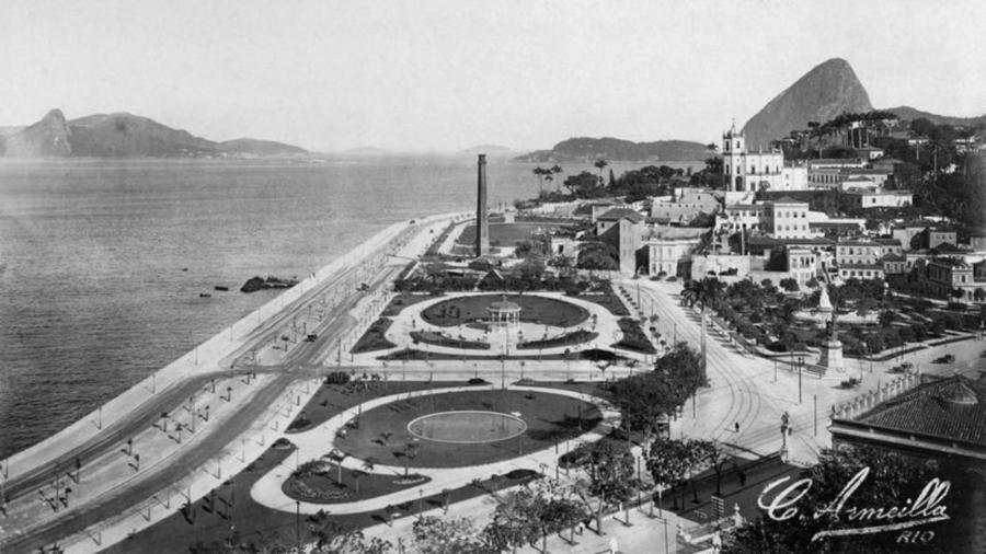 Avenida Beira Mar e Bairro da Glória: fotógrafo francês retratou o Rio no início do século 20 - Editora Capivara