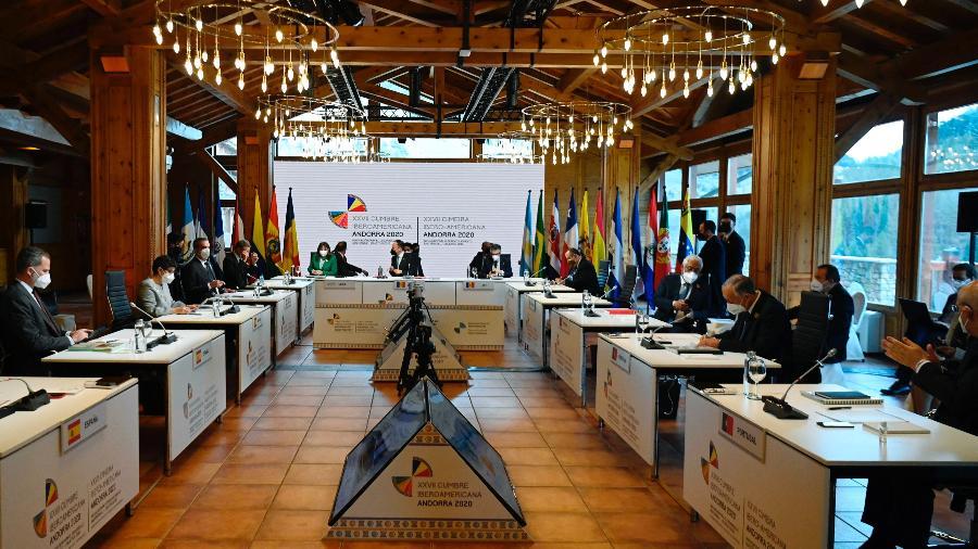 Cúpula Ibero-Americana é realizada em Andorra - Lionel Bonaventure/ AFP