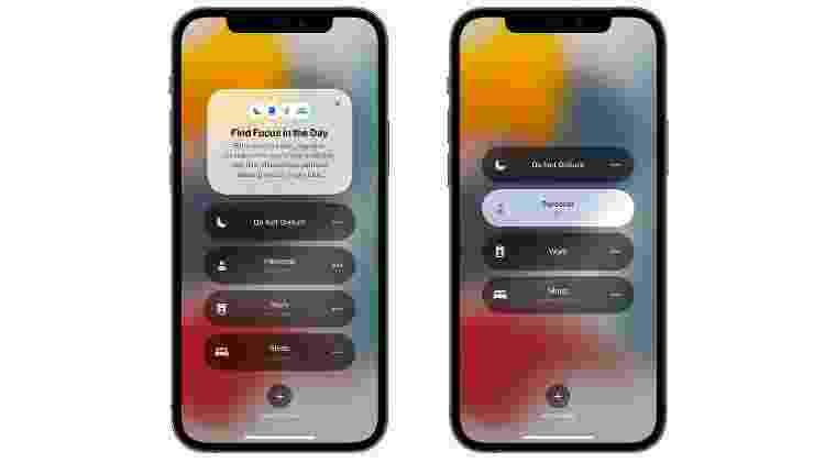 Modo Foco auxiliará a filtrar notificações de apps no iOS 15 - Divulgação - Divulgação