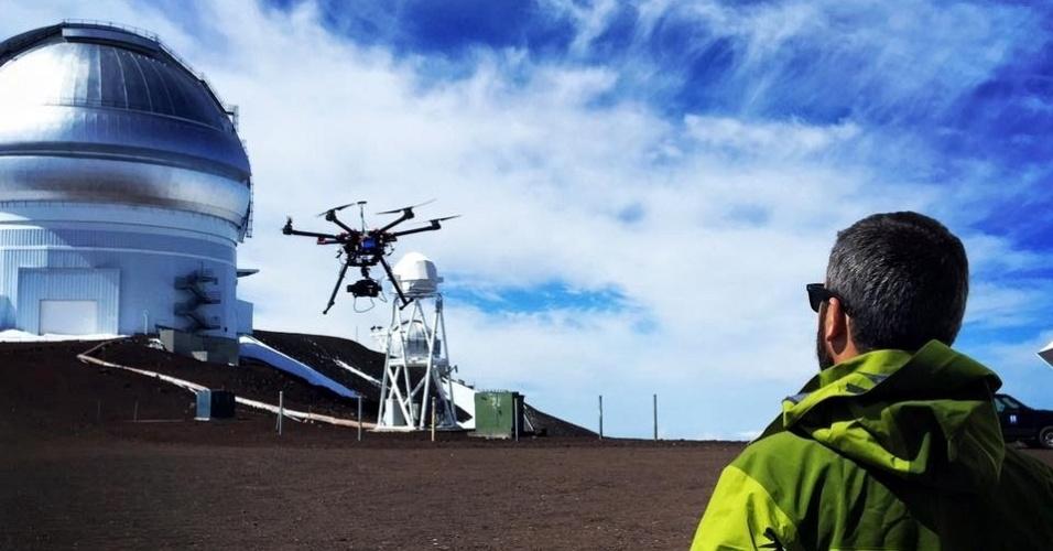 Drone da produtora Peixe Vivo, durante filmagem no Havaí (EUA)