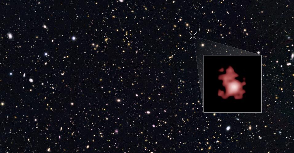 3.mar.2016 - Astrônomos da Universidade de Yale encontraram a galáxia mais distante que se tem notícia na ciência