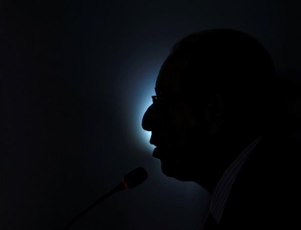 O presidente afastado da Câmara, Eduardo Cunha (PMDB-RJ), concedeu entrevista coletiva em Brasília nesta terça-feira
