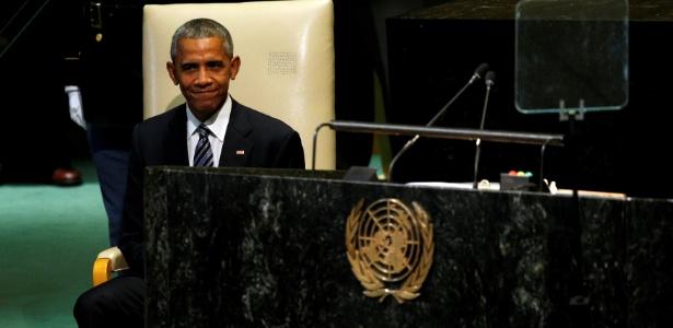 Barack Obama aguarda momento para fazer o seu discurso na Assembleia Geral da ONU