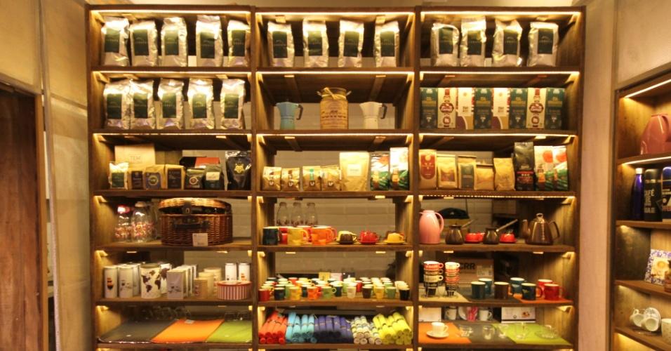 A loja TEM Café, aberta em maio de 2016, no Parque Buenos Aires, no bairro de Higienópolis, em São Paulo (SP) vende grãos exclusivamente brasileiros