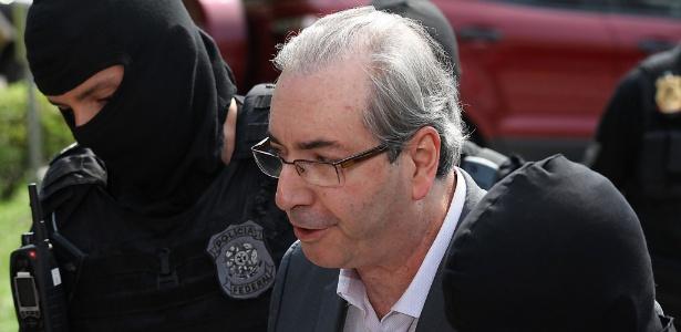 O ex-deputado Eduardo Cunha é levado ao IML de Curitiba para realizar exame de corpo de delito nessa quinta-feira (20), em Curitiba