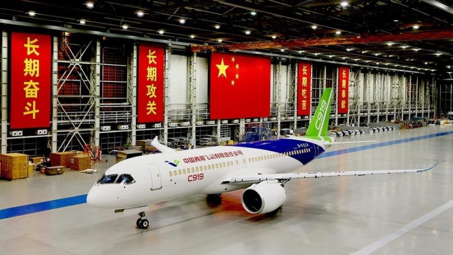Avião chinês Comac C919 - Divulgação