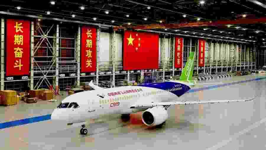 Avião chinês Comac C-919 - Divulgação