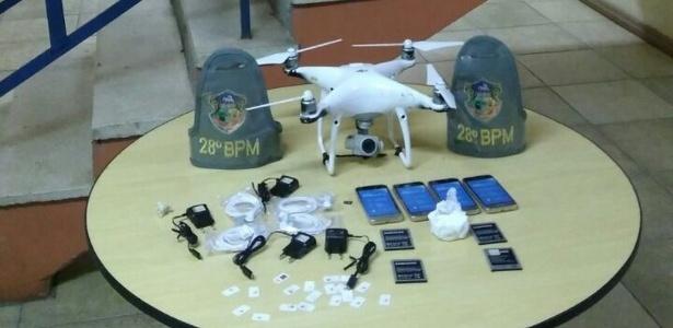 Brigada Militar captorou drone que levaria quatro celulares para presídio de Charqueadas