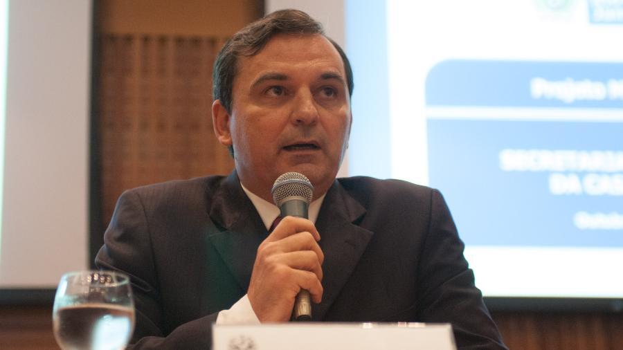 22.out.2012 - Régis Fichtner, em entrevista coletiva sobre a concessão do Maracanã - ERBS JR./Frame