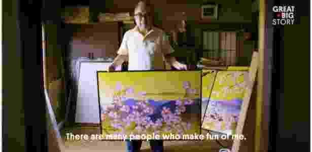 4.dez.2017 - Artista japonês Tatsuo Horiuchi, que faz quadros no Microsoft Excel - Reprodução/Great Big Story - Reprodução/Great Big Story