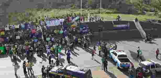 Protesto na fronteira com a Venezuela - Divulgação - Divulgação