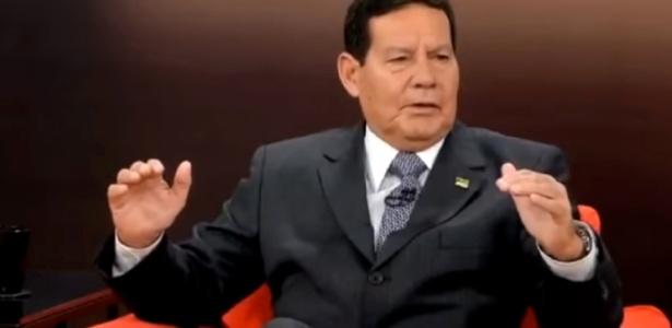 General Hamilton Mourão, durante entrevista no Central das Eleições, da GloboNews