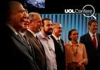 No último debate, presidenciáveis erram dados sobre dívida pública e creche (Foto: Arte/UOL)