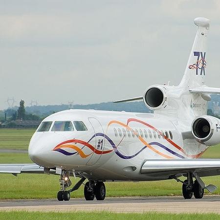 Jato Dassault Falcon 7X - Reprodução