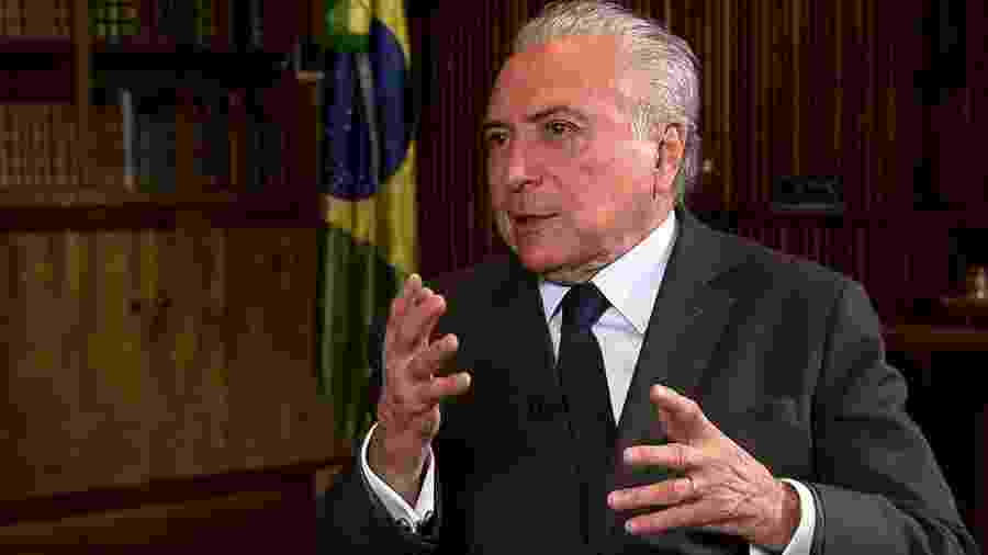 Presidente Michel Temer (MDB) concede entrevista à TV Brasil - Agência Brasil