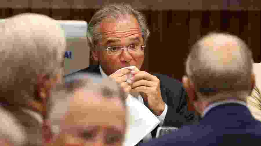 Paulo Guedes, futuro ministro da Economia, em almoço com empresários e políticos na Firjan, no Rio - Sergio Moraes/Reuters