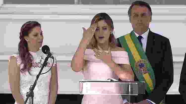 Primeira-dama discursa em Libras - Reprodução - Reprodução