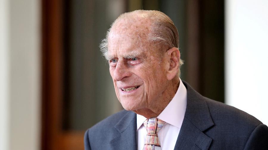 14.jul.2017 - O príncipe Philip durante evento no palácio de Buckingham, em Londres - Chris Jackson/Reuters