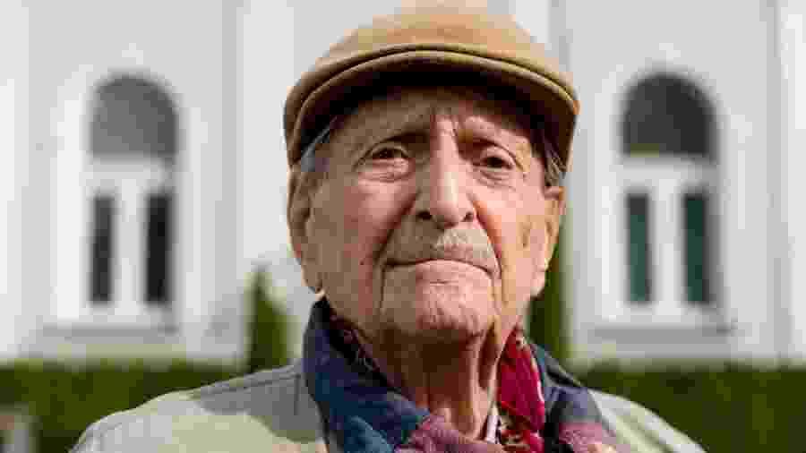 15.mar.2018 - Marko Feingold, à época com 104 anos - Joe Klamar/AFP