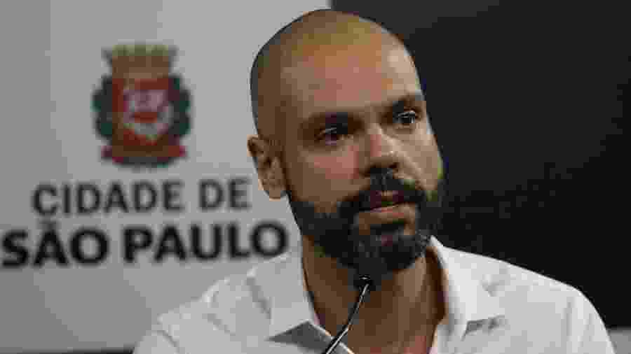 Bruno Covas, em coletiva de imprensa na prefeitura de São Paulo - Renato S. Cerqueira/Futura Press/Estadão Conteúdo
